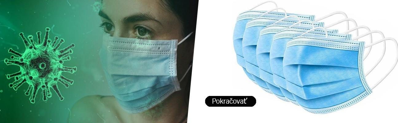 Hygienické rúško z netkanej textílie s gumičkami (50 ks)