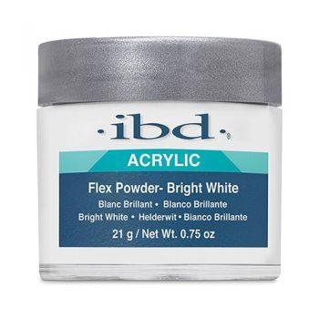 Výrazne biely akrylový púder ibd Bright White Flex