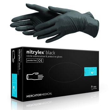 Rukavice nitrilové nepudrované nitrylex® black (40 ks)