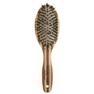 Kvalitná profesionálna kefa na vlasy s bambusovou rukoväťou