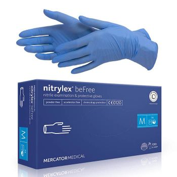 Rukavice nitrilové nepudrované nitrylex®befree (40 ks)